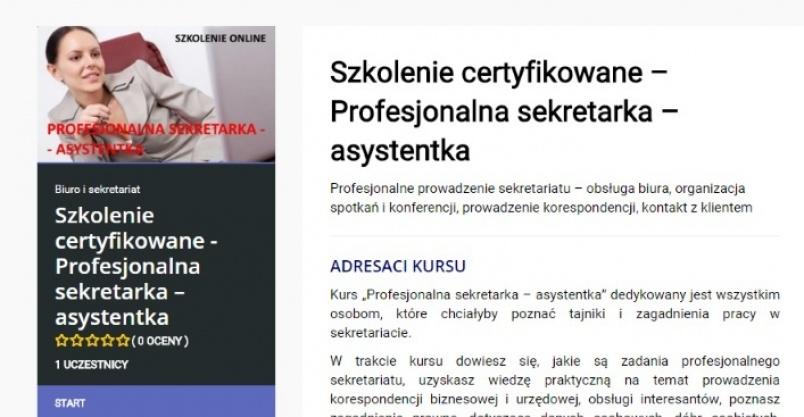 Profesjonalna sekretarka – asystentka Kliknięcie w obrazek spowoduje wyświetlenie jego powiększenia
