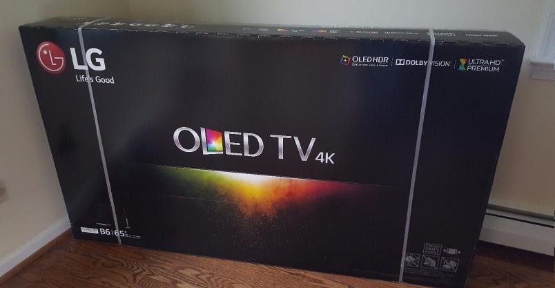 LG OLED65B6P Flat 65-Inch 4K Ultra HD Smart OLED TV Kliknięcie w obrazek spowoduje wyświetlenie jego powiększenia