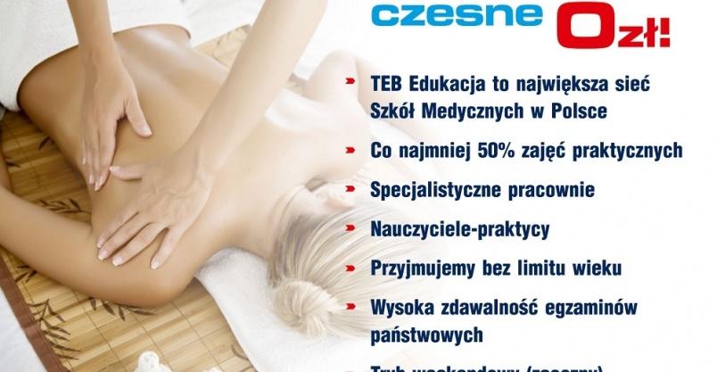 Technik masażysta z certyfikatami Płock - czesne 0 zł Kliknięcie w obrazek spowoduje wyświetlenie jego powiększenia