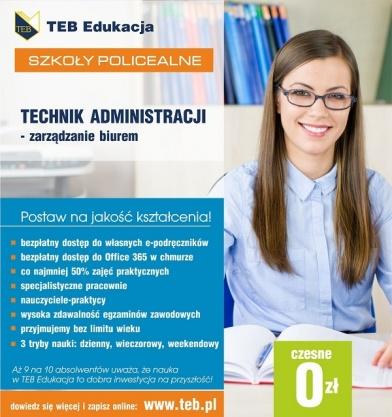 Technik administracji - zarządzanie biurem Płock - czesne 0 zł Kliknięcie w obrazek spowoduje wyświetlenie jego powiększenia