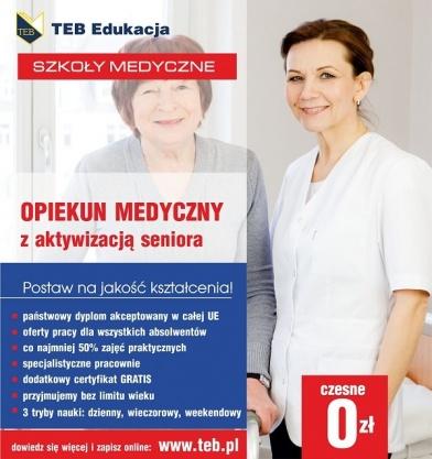 Opiekun medyczny z aktywizacją seniora  Płock - czesne 0 zł Kliknięcie w obrazek spowoduje wyświetlenie jego powiększenia