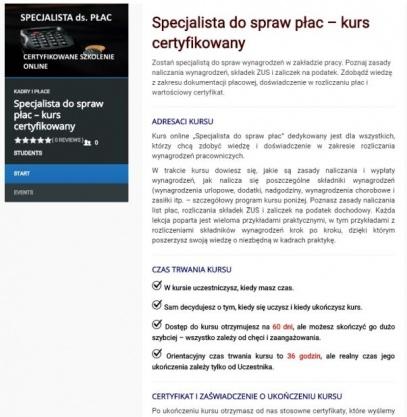 """Kurs """"Specjalista ds. Płac"""" - SPD SZKOLENIA Kliknięcie w obrazek spowoduje wyświetlenie jego powiększenia"""