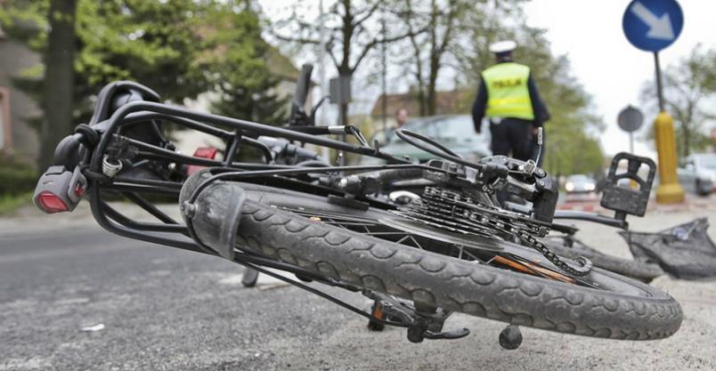 Rowerzysta w stanie ciężkim. Kierowca uciekł Kliknięcie w obrazek spowoduje wyświetlenie jego powiększenia