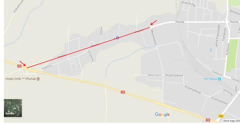 Objazd na Płockiej i ograniczenia  ruchu ciężarówek Kliknięcie w obrazek spowoduje wyświetlenie jego powiększenia