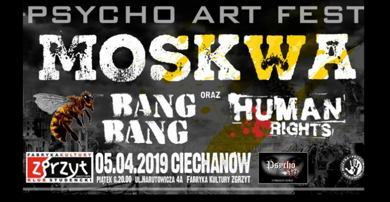 """W ciechanowskim """"Zgrzycie zagra kultowa """"Moskwa"""" Kliknięcie w obrazek spowoduje wyświetlenie jego powiększenia"""