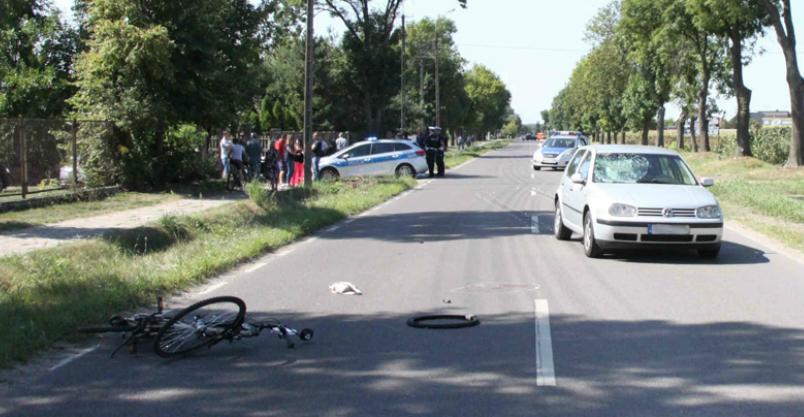 Trzy osoby ranne na drogach powiatu. Rowerzystka w stanie ciężkim Kliknięcie w obrazek spowoduje wyświetlenie jego powiększenia