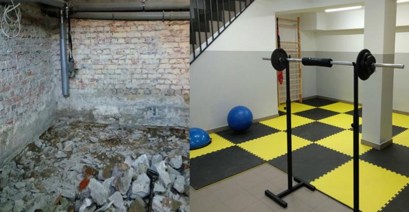 Sportowa metamorfoza pomieszczenia Kliknięcie w obrazek spowoduje wyświetlenie jego powiększenia