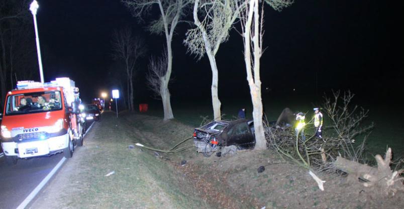 Uderzyli w drzewo. Zginęli na miejscu Kliknięcie w obrazek spowoduje wyświetlenie jego powiększenia