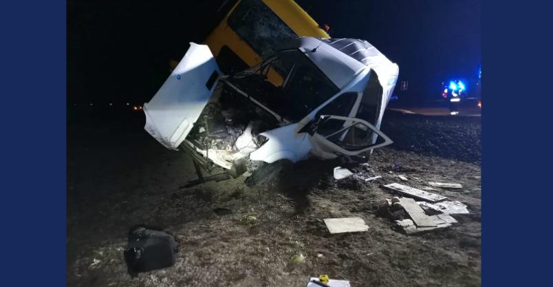 Wjechał na skrzyżowanie wprost pod ciężarówkę. Zginął na miejscu  Kliknięcie w obrazek spowoduje wyświetlenie jego powiększenia